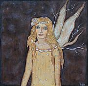 Rain Ririn  Paintings - Dreamy Fairy by Rain Ririn