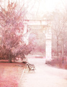 Photos Of France Posters - Dreamy Paris Park  Poster by Kathy Fornal