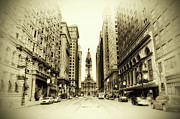 Broad Street Digital Art Posters - Dreamy Philadelphia Poster by Bill Cannon