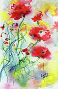 Poppies Fine Art Posters - Dreamy Poppies Poster by Ginette Fine Art LLC Ginette Callaway