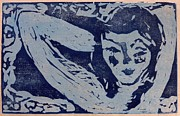 Woodcut Reliefs Posters - Dreamy Poster by Preston -