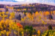 Lightning Wall Art Prints - Dreamy Rocky Mountain Autumn View Print by James Bo Insogna