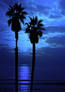 """blue Sunset"" Prints - Dreamy Sunset Print by Gwyn Newcombe"