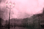 Paris Fine Art By Kathy Fornal Prints - Dreamy Surreal Paris Street Lamps and Architecture Print by Kathy Fornal