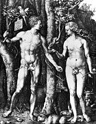 Knowledge Art - DÜrer: Adam & Eve, 1504 by Granger
