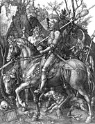 Personification Posters - DÜrer: Knight Death Devil Poster by Granger