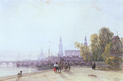 Dog Walking Art - Dresden by William Wyld