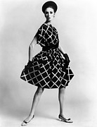Plaid Skirt Framed Prints - Dress By Pauline Trigere. Short Framed Print by Everett
