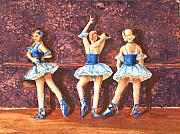 Ballet Dancers Painting Prints - Dress Rehearsal Print by Ann Sokolovich