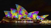 Dress Sails - Sydney Vivid Festival - Sydney Opera House Print by Bryan Freeman