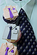Tie Photos - Dress Shirt Cupcakes by Garry Gay