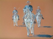 Dressage Drawings - Dressage by David McEwen