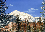 Crested Butte Framed Prints - Dressed For Winter Framed Print by Barbara Jewell