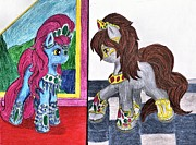 My Little Pony Drawings - Dressed Up by April McCallum