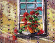Williams Pastels - Dressing Room Window by John  Williams