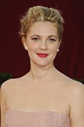 Updo Acrylic Prints - Drew Barrymore At Arrivals For 61st Acrylic Print by Everett
