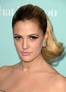 Hair Slicked Back Posters - Drew Barrymore At Arrivals For Hes Just Poster by Everett