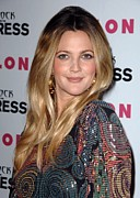 Teased Hair Prints - Drew Barrymore At Arrivals For Nylon + Print by Everett