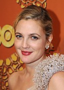 Hair Bun Metal Prints - Drew Barrymore At The After-party Metal Print by Everett