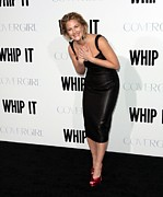 Satin Dress Framed Prints - Drew Barrymore Wearing A Lwren Scott Framed Print by Everett