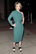Gathered Dress Photos - Drew Barrymore Wearing An Elie Saab by Everett