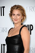 Gold Earrings Photo Acrylic Prints - Drew Barrymore Wearing Neil Lane Acrylic Print by Everett