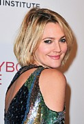 Bobbed Hair Framed Prints - Drew Barrymore Wearing Pucci Framed Print by Everett