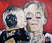 Jon Baldwin  Art - Drew Brees and Son