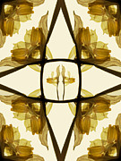 Image Repeat Prints - Dried Daffodil Composition Print by Janeen Wassink Searles