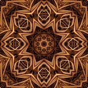 Kaleidoscope Metal Prints - Dried Grass Mandala Metal Print by Lyle Hatch