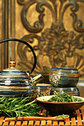 Asia Photo Metal Prints - Dries herb leaves  Metal Print by Sandra Cunningham