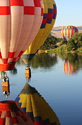 Prosser Balloon Rally Prints - Drifting Along on the Yakima River Print by Carol Groenen
