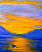 Drifting Paintings - Drifting At Sunset by Nancy Rucker