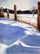 Drifting Snow Painting Framed Prints - Drifting Framed Print by Daydre Hamilton