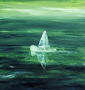 Drifting Paintings - Drifting by Paula  Heffel