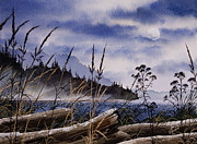 Seacoast Prints - Driftwood Moon Print by James Williamson