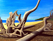 Pacific Coast And Western Artwork - Driftwood30x24 by Frederic Kohli