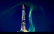 Platform Photos - Drilling Rig Potash Mine Canada by Mark Duffy