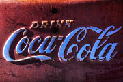 Antique Coca Cola Sign Prints - Drink Coca Cola Print by Garry Gay