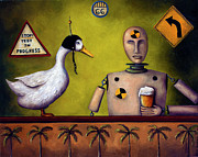 Humor. Paintings - Drink Test Dummy by Leah Saulnier The Painting Maniac