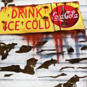 Coca-cola Sign Paintings - Drink by Veronique Le Merre