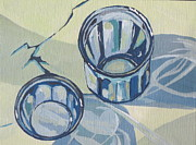 Glasses Painting Originals - Drinking Glasses by Sandy Tracey