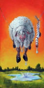 Humor Painting Prints - Drip Dry Print by Conni Togel