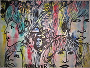 Fab Four  Art - Drippy Trippy Revolver by Sandra Ragan