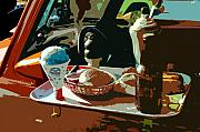 Antic Car Prints - Drive in Print by David Lee Thompson