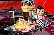 Carhop Framed Prints - Drive-In Food Classic Framed Print by Carolyn Marshall