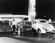 Old Drive In Framed Prints - Drive-in Restaurant Framed Print by Photo Researchers