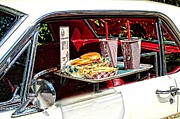 Burger Framed Prints - Drive-in Framed Print by Rudy Umans