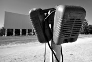 Fine Art Photography Art - Drive in speakers by David Lee Thompson
