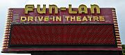 Old Drive In Framed Prints - Drive inn theatre Framed Print by David Lee Thompson